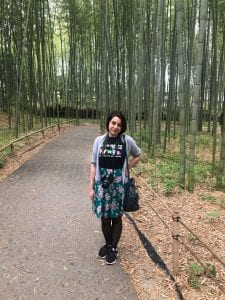 Girl in bamboo Forest