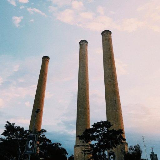 Coal factory polluting