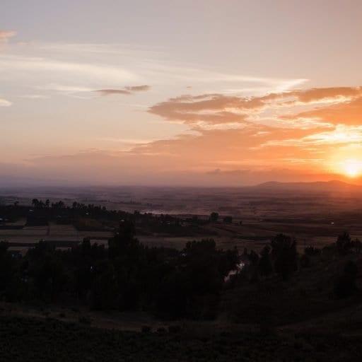 Sunrise over Ethiopia