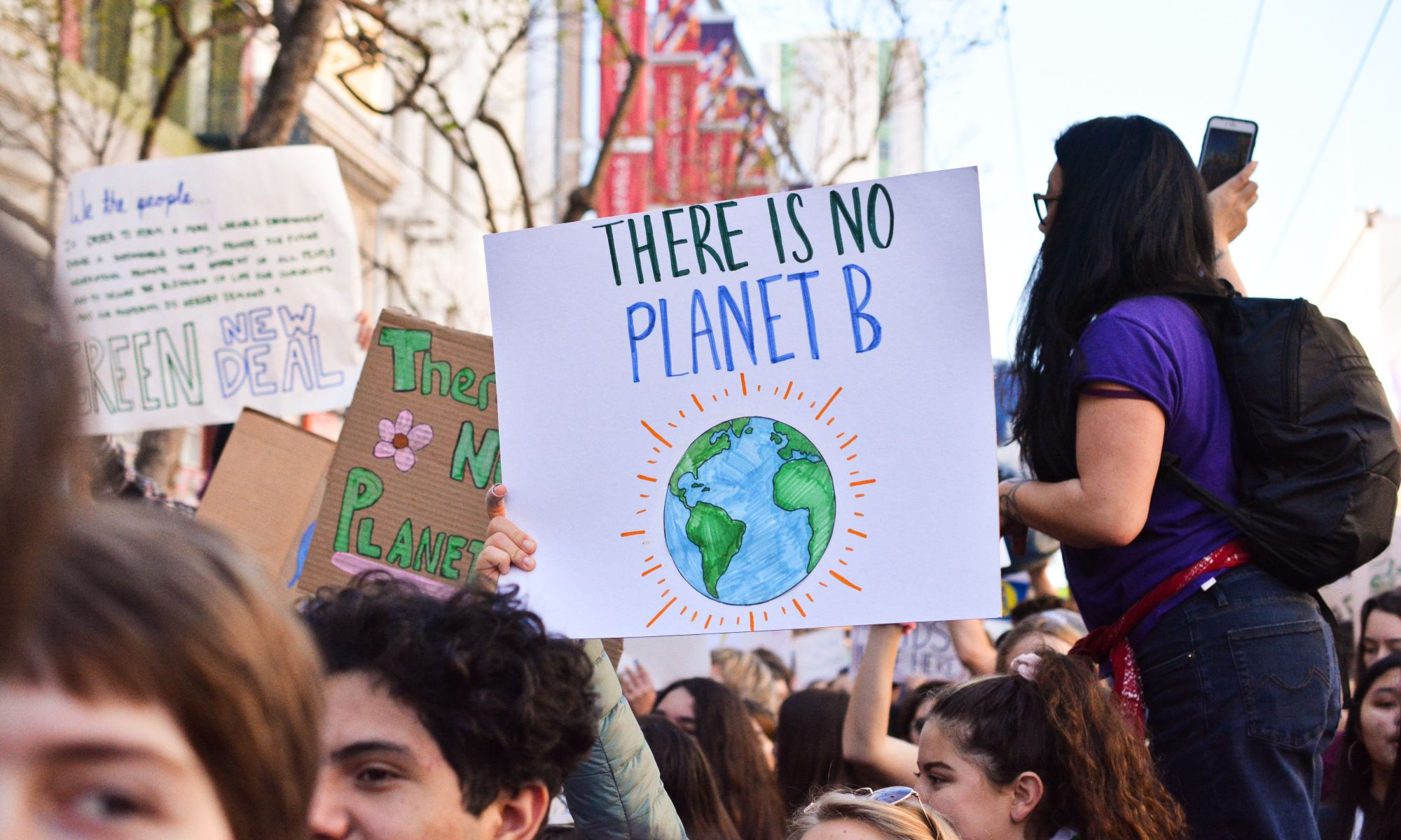 There is no planet B sign