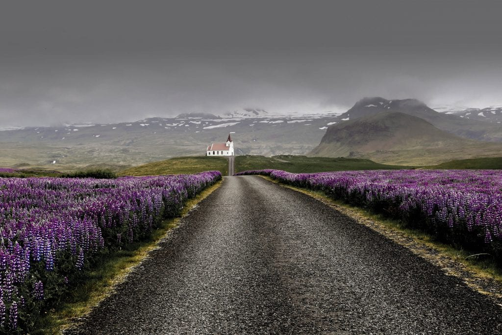 Road in Iceland, well ahead in closing the gender gap.
