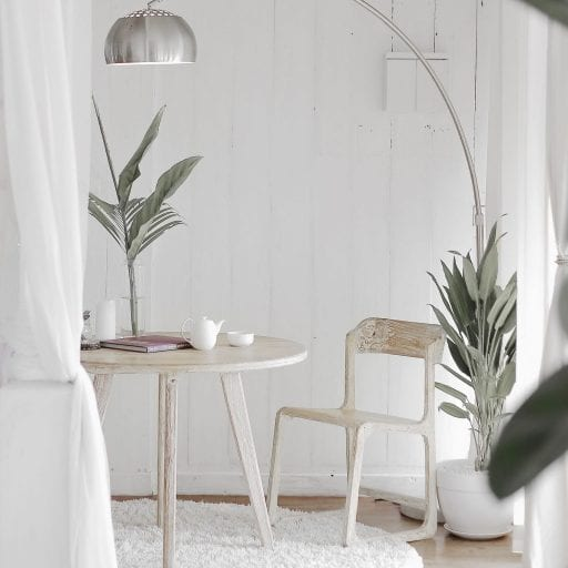 White wooden furniture
