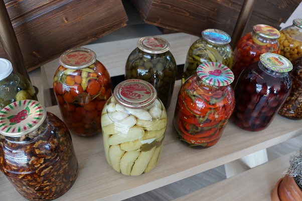 jars of preserved veg, another of the top reasons to grow organic