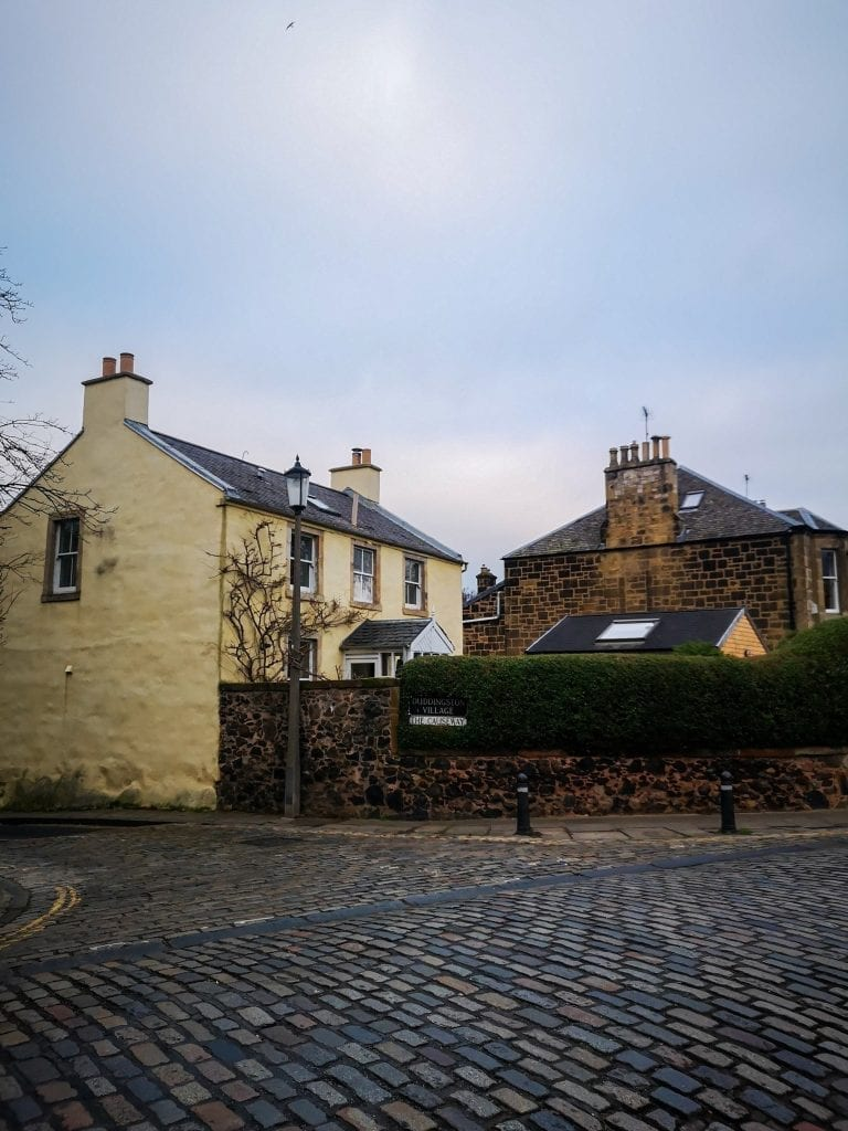 cobblestone intersection, Sustainable Edinburgh Guide