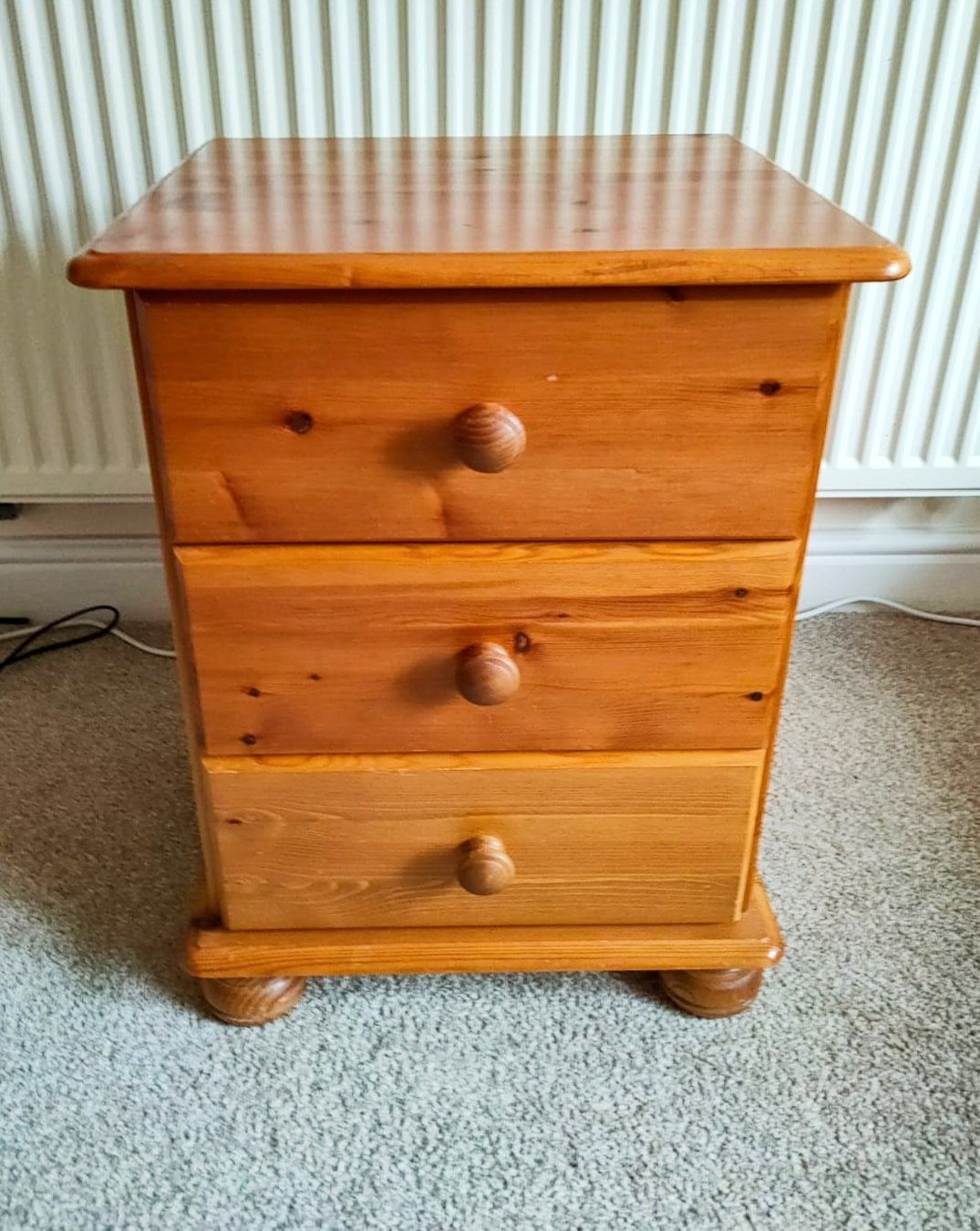 Unpainted chest of drawers, Upcycling Using Chalk Paint