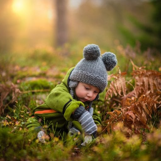 A child in the wild. Nature can help to teach kids about sustainability