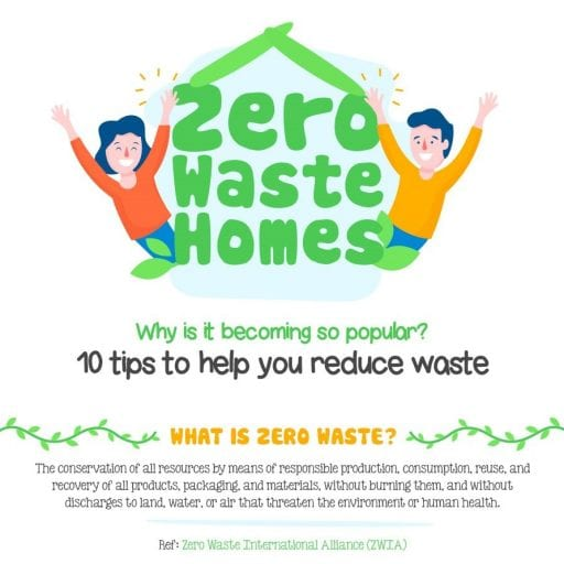 infographic, zero waste homes