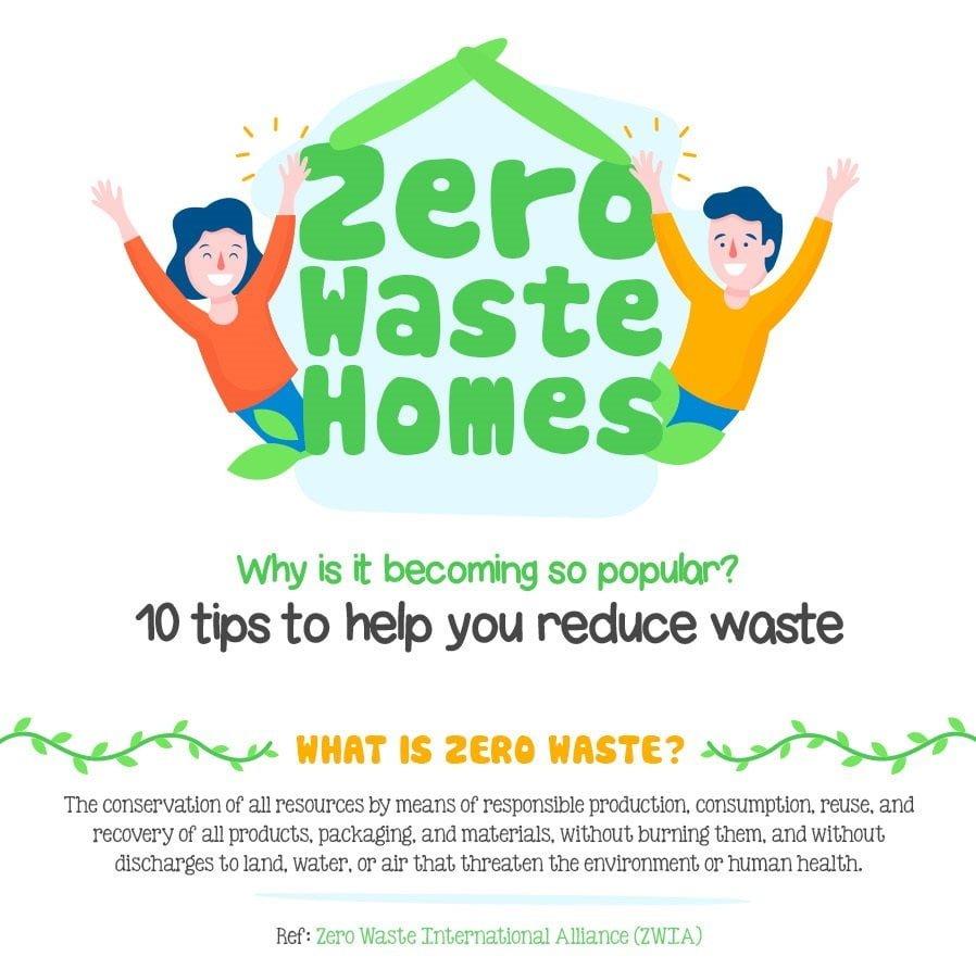 infographic, zero waste homes
