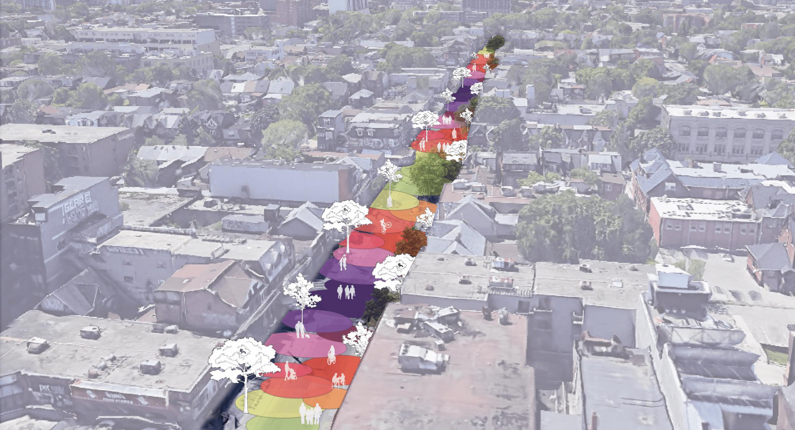 artist rendition of street zones