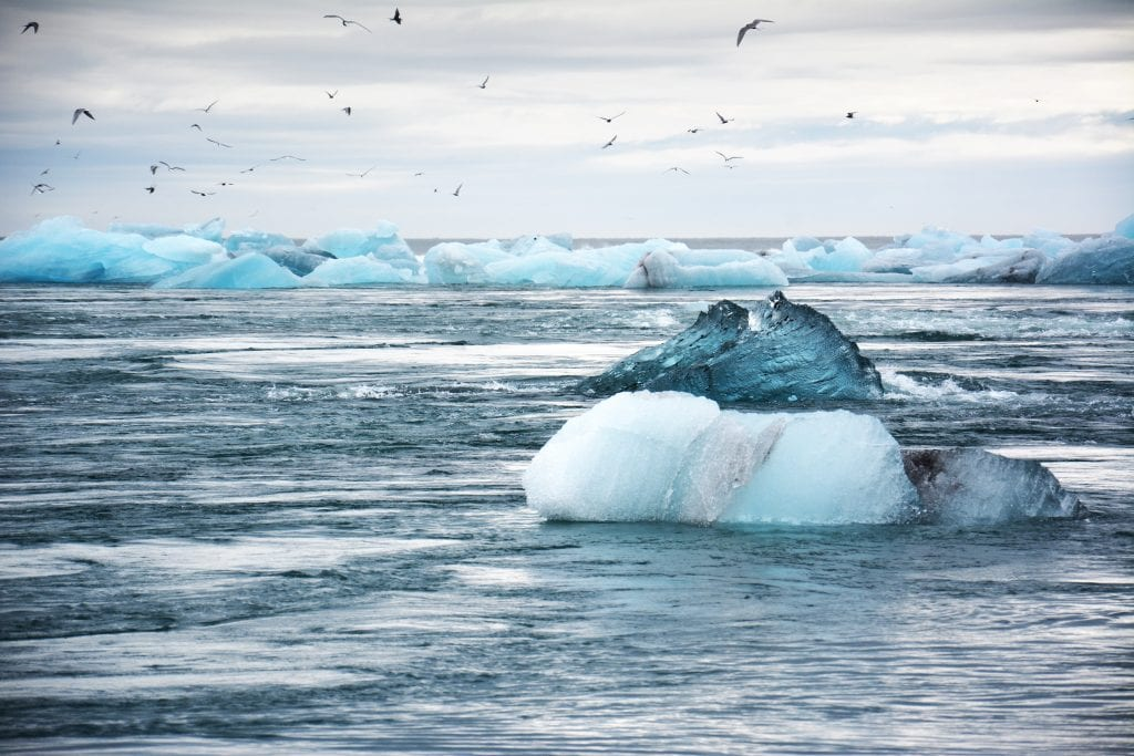 Melting icebergs, symbolic of a changing climate