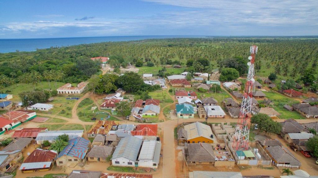 Gazi Village from above, a hotspot of mangrove restoration
