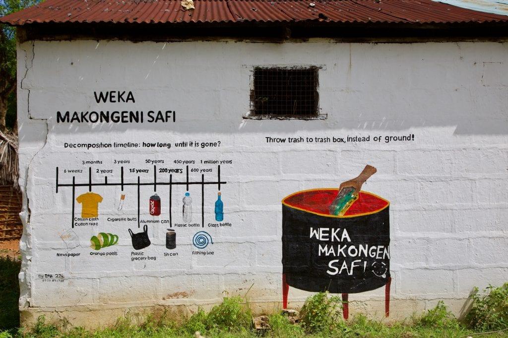 Gazi Bay Community's Information Wall