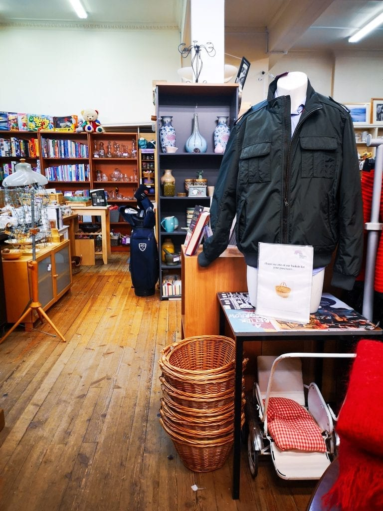 Inside a Bethany charity shop, Edinburgh, Be More Sustainable in 2020