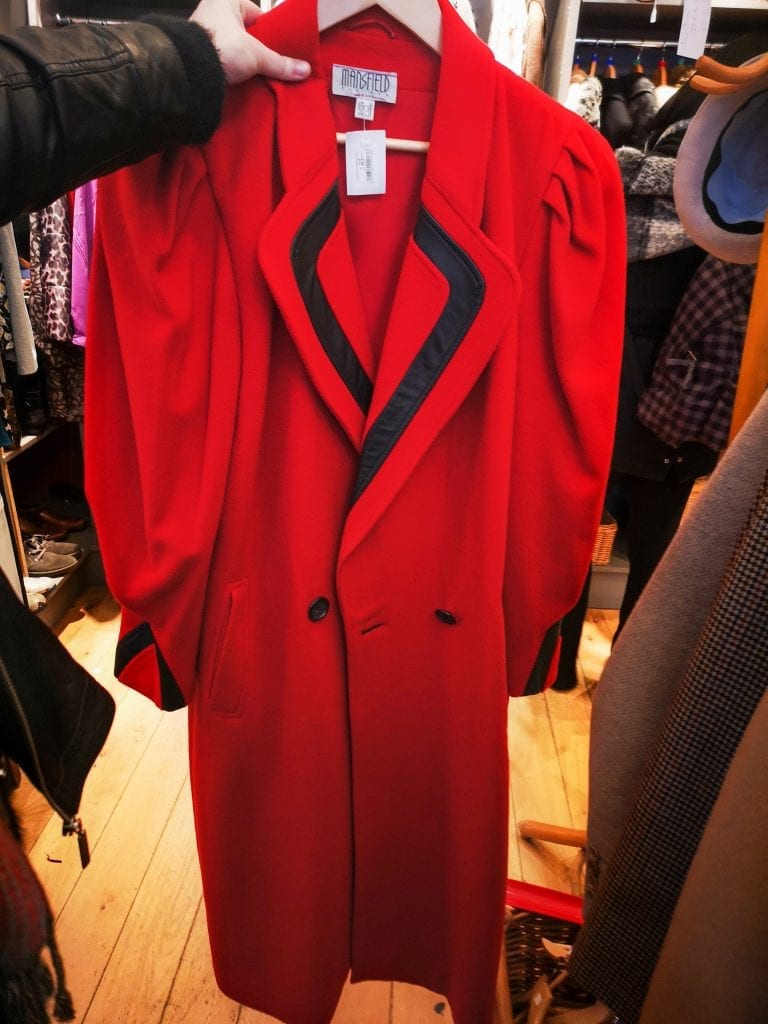 Red vintage clothes