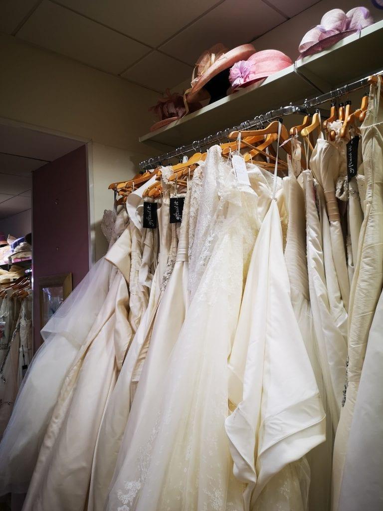 Wedding dresses inside Red Cross, Edinburgh