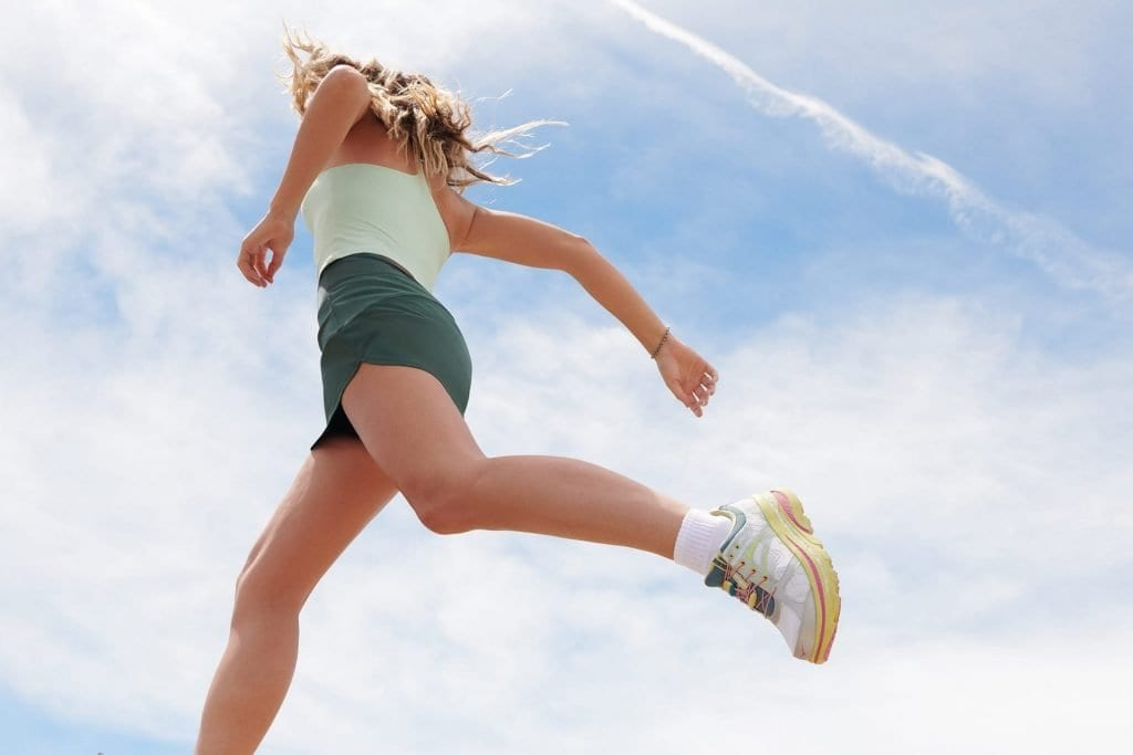 Woman running is ethical sportswear