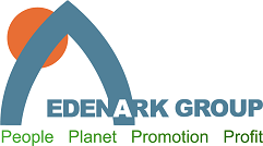Edenark logo. Edanark assist SMEs with sustainability certification