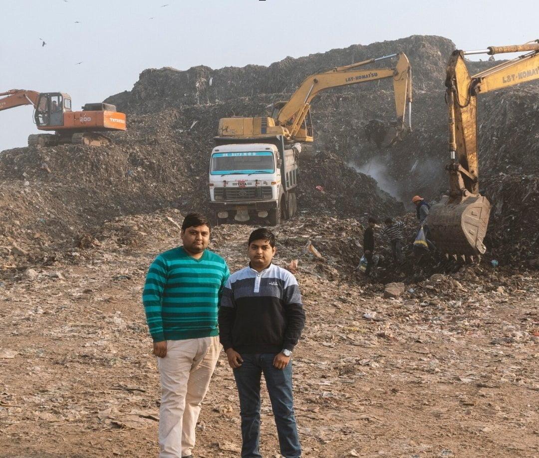 Uneako founders at garbage tip