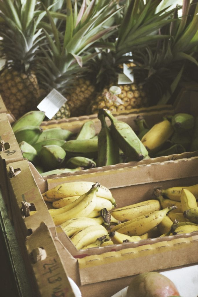 bananas and pineapples