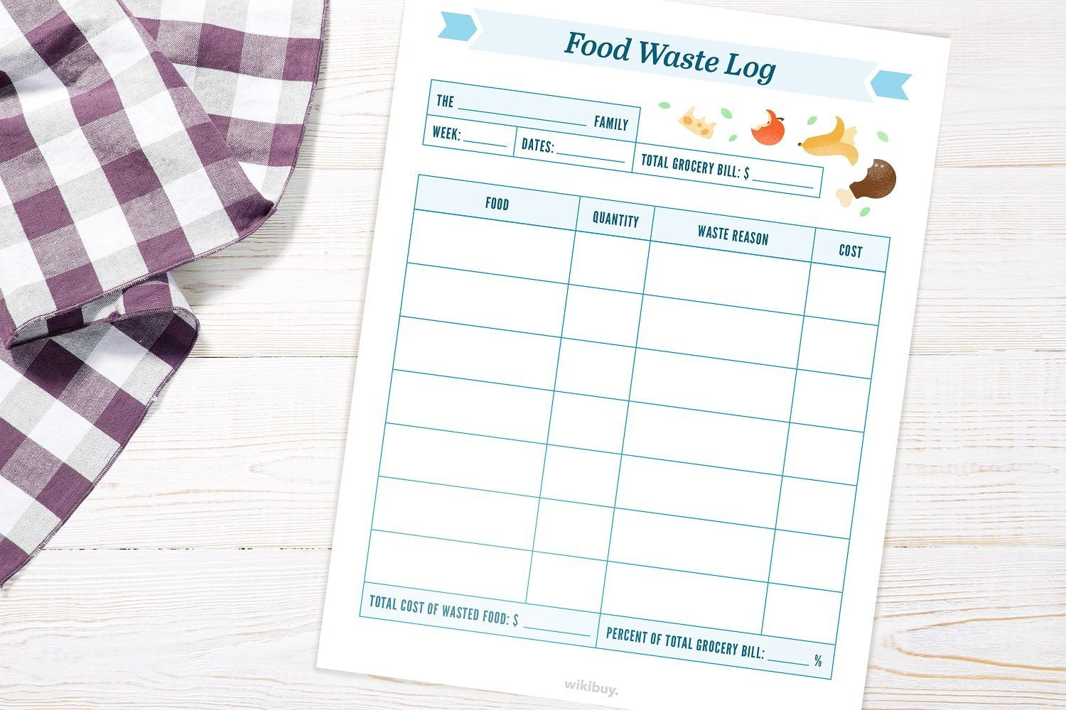 How to Reduce Food Waste Using a Log