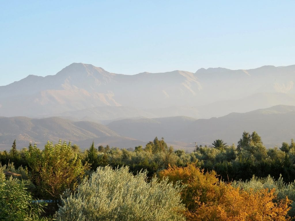 Arid countryside with mountains