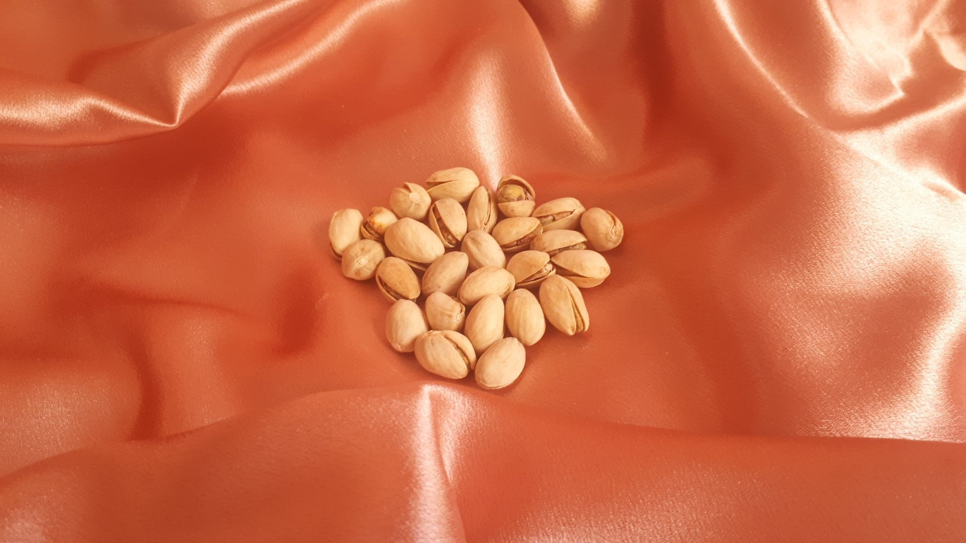 polyester sheet with pistachios on top