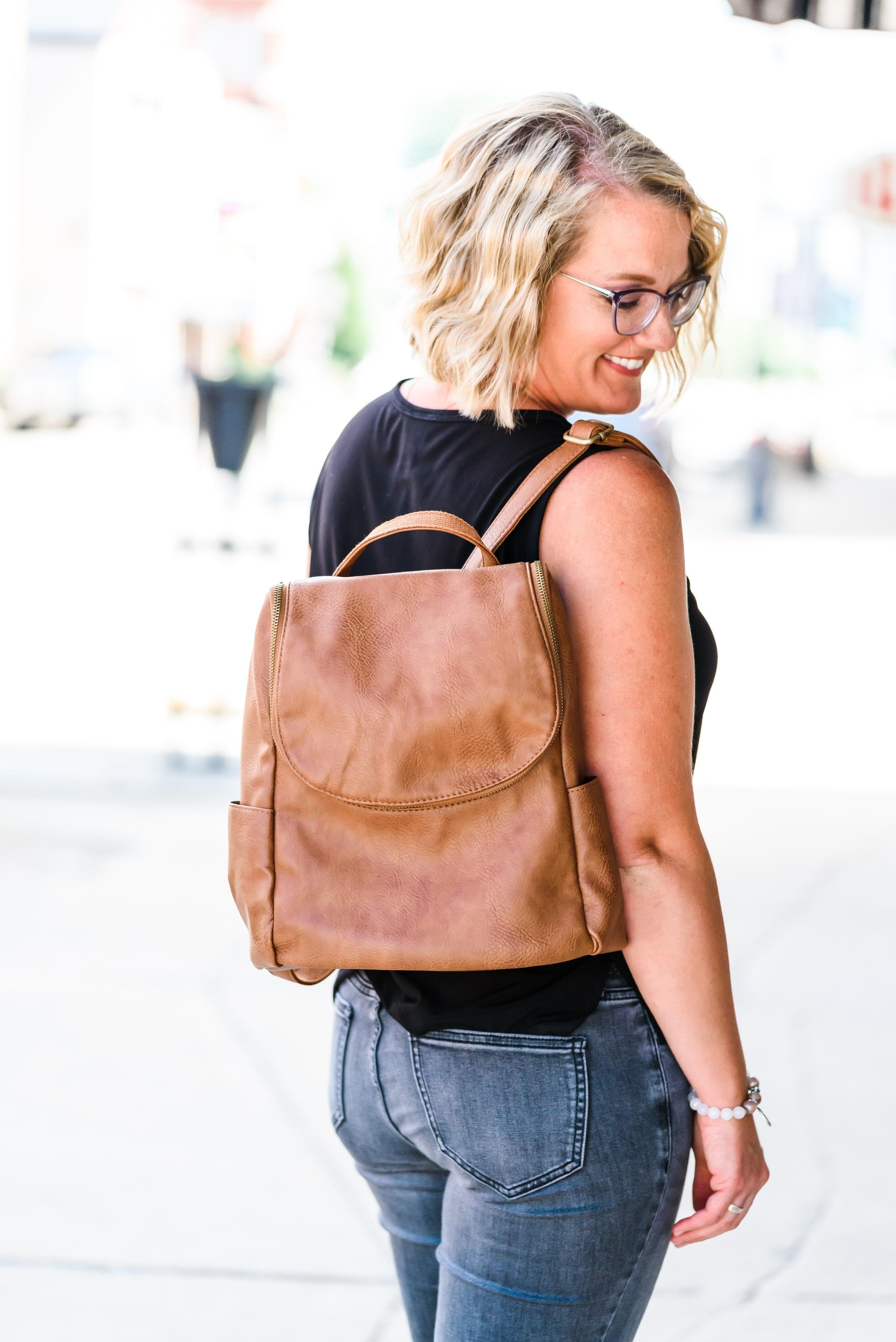 Vegan Leather Backpack