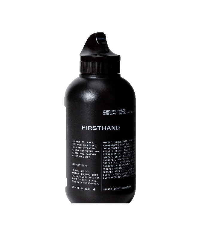 'firsthand' sustainable shampoo bottle
