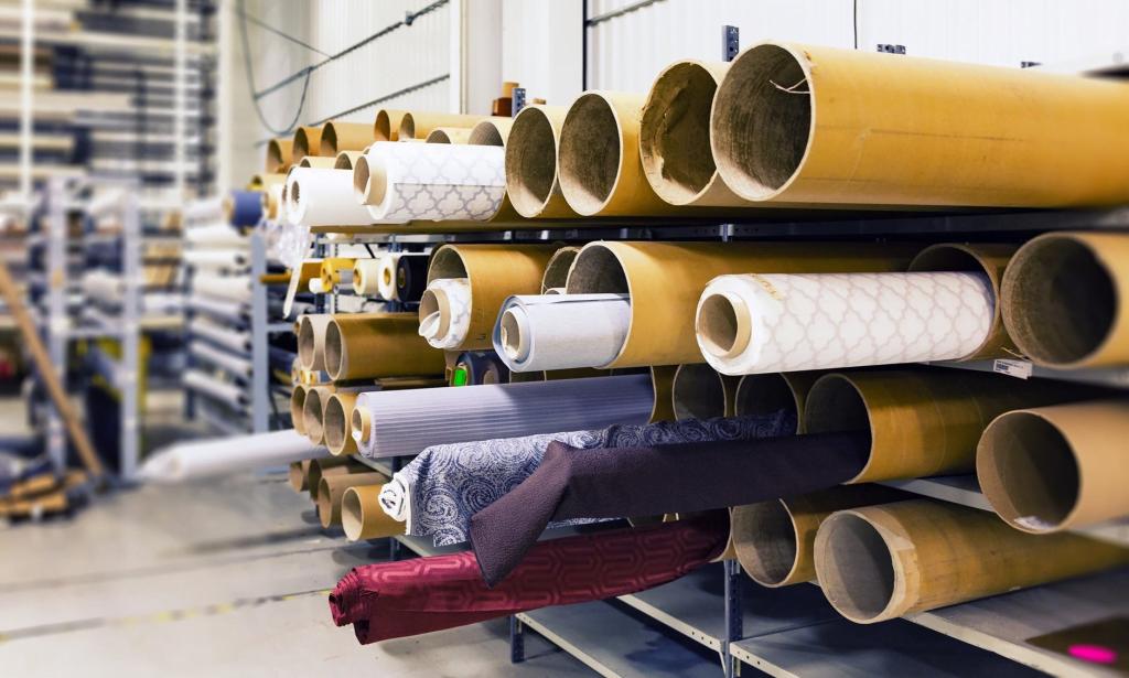 Rolls of Synthetic Fabrics