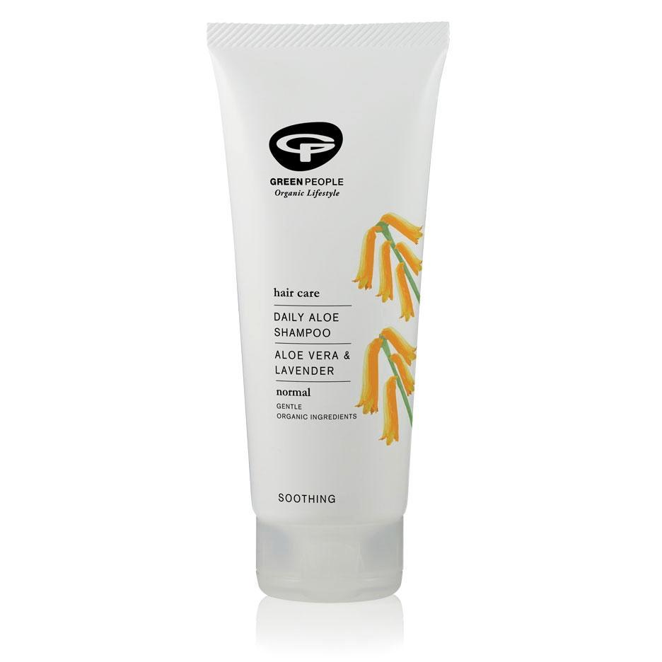 white sustainable shampoo bottle