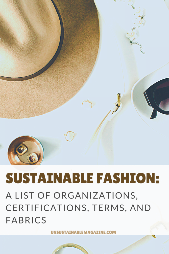 Sustainable Fashion Glossary