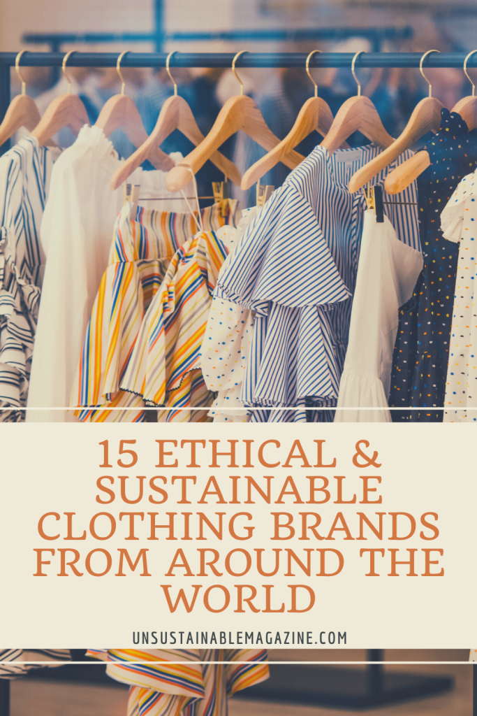15 Sustainable Clothing Brands