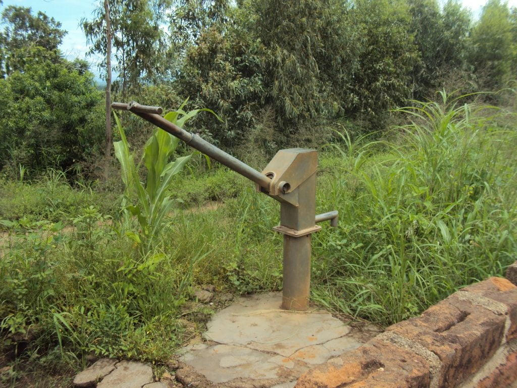 Malawi Water Crisis: Large metallic pump for extracting ground water