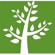 Green tree logo of sustainability organization