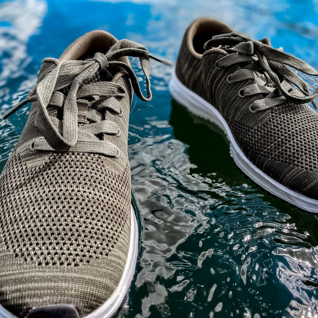 Recycled sneakers by Freewaters, an ethical footwear brand