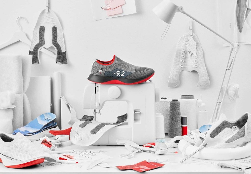 Deconstructed shoe by Allbirds, a sustainable shoe brand