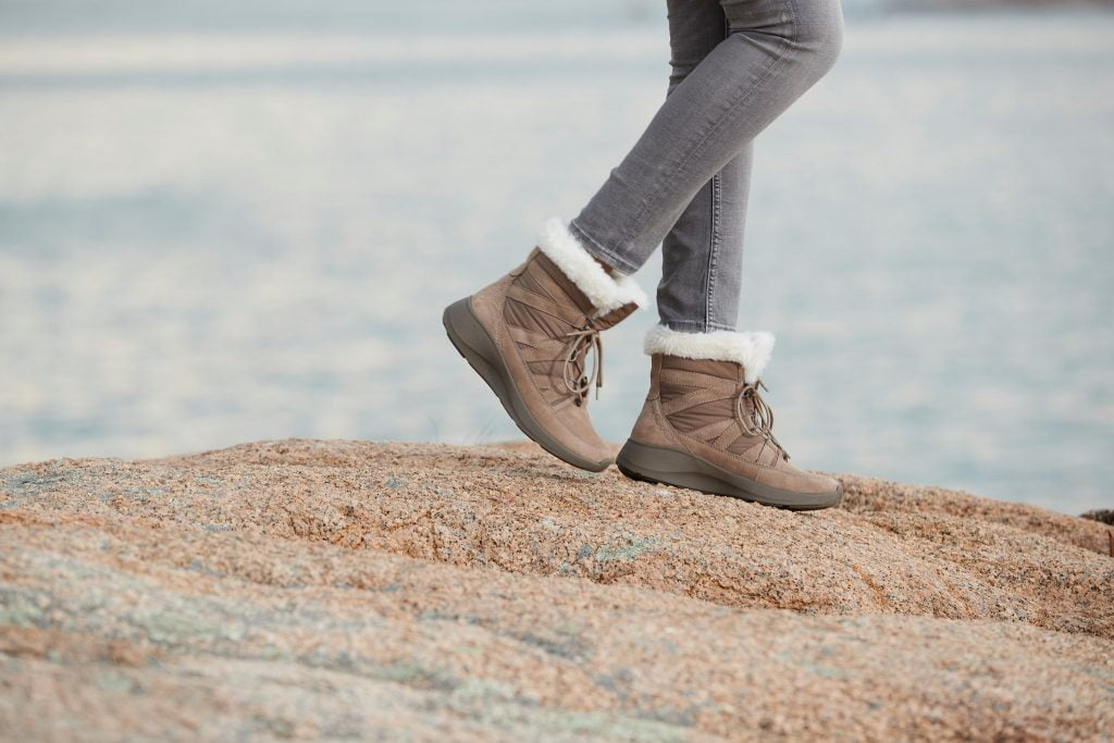 woolen-lined walking shoes by Earth Origins, a sustainable footwear brand