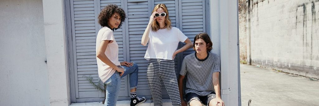 young people in street by Alternative Apparel, a sustainable clothing brand