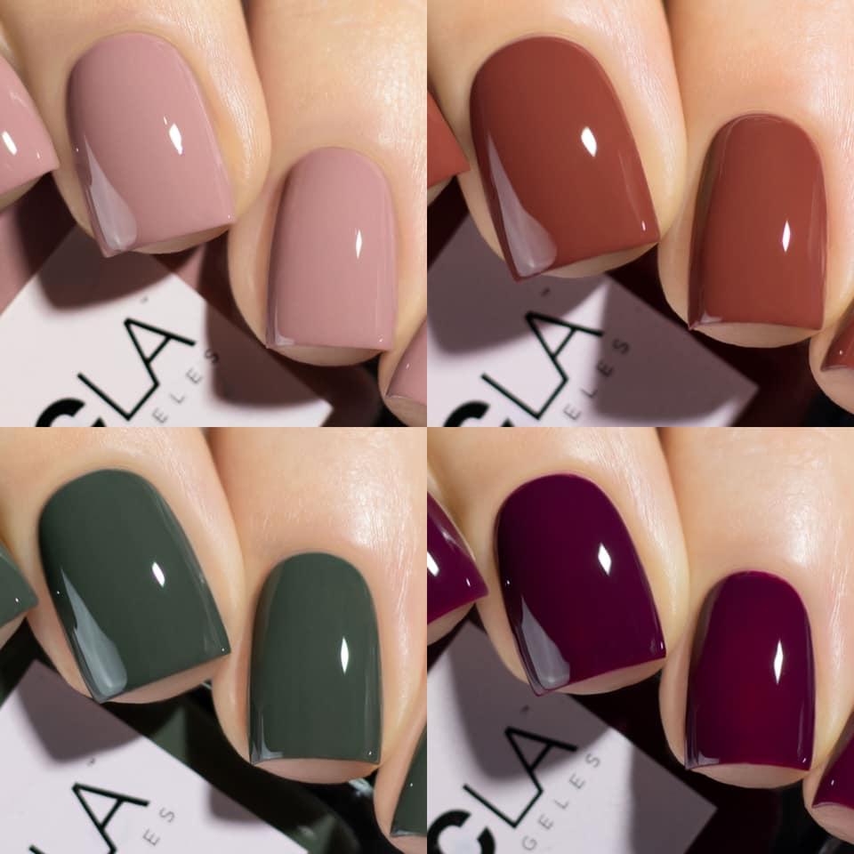Nails coloured