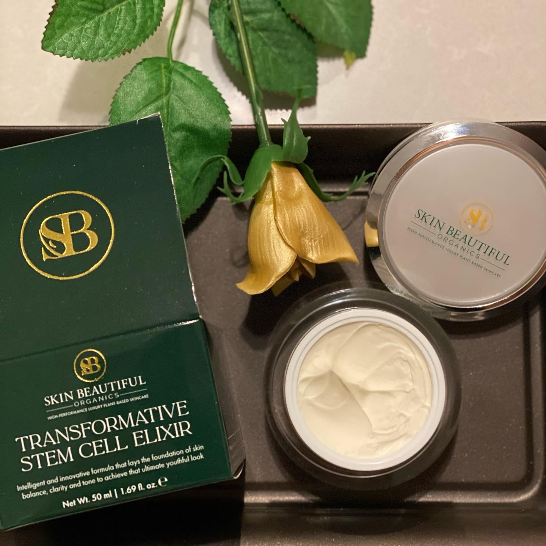 gold rose and skincare tub