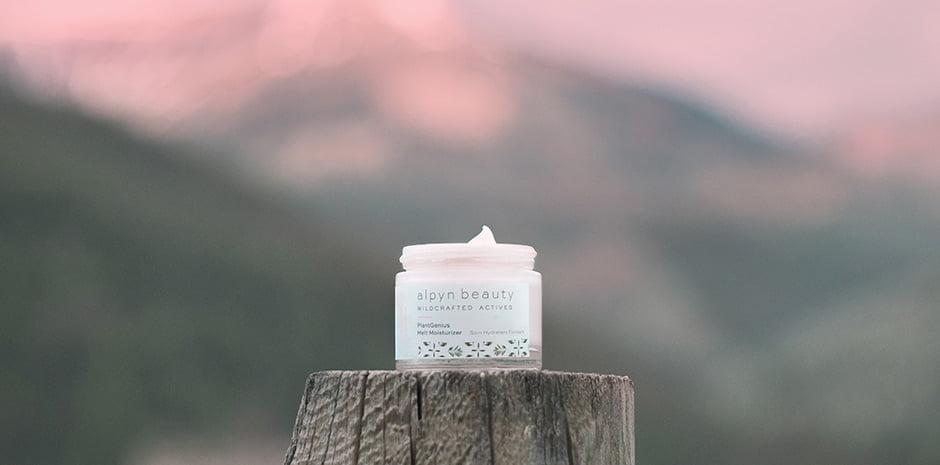 alpyn beauty jar at dusk
