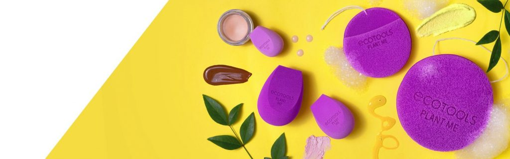 purple cosmetics tools