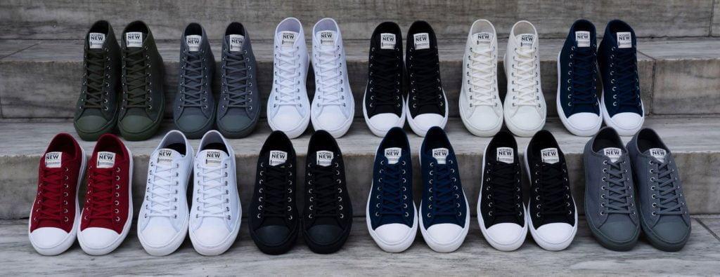 lineup of vegan shoes