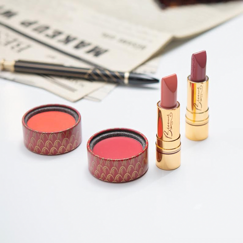 lipstick and powders