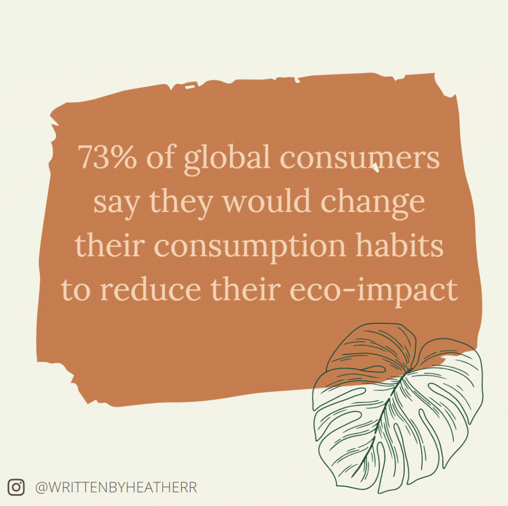 73% of global consumers say they would change their consumption habits to reduce their eco-impact
