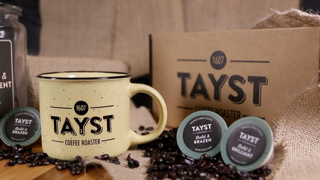 tayst coffee cup and pods