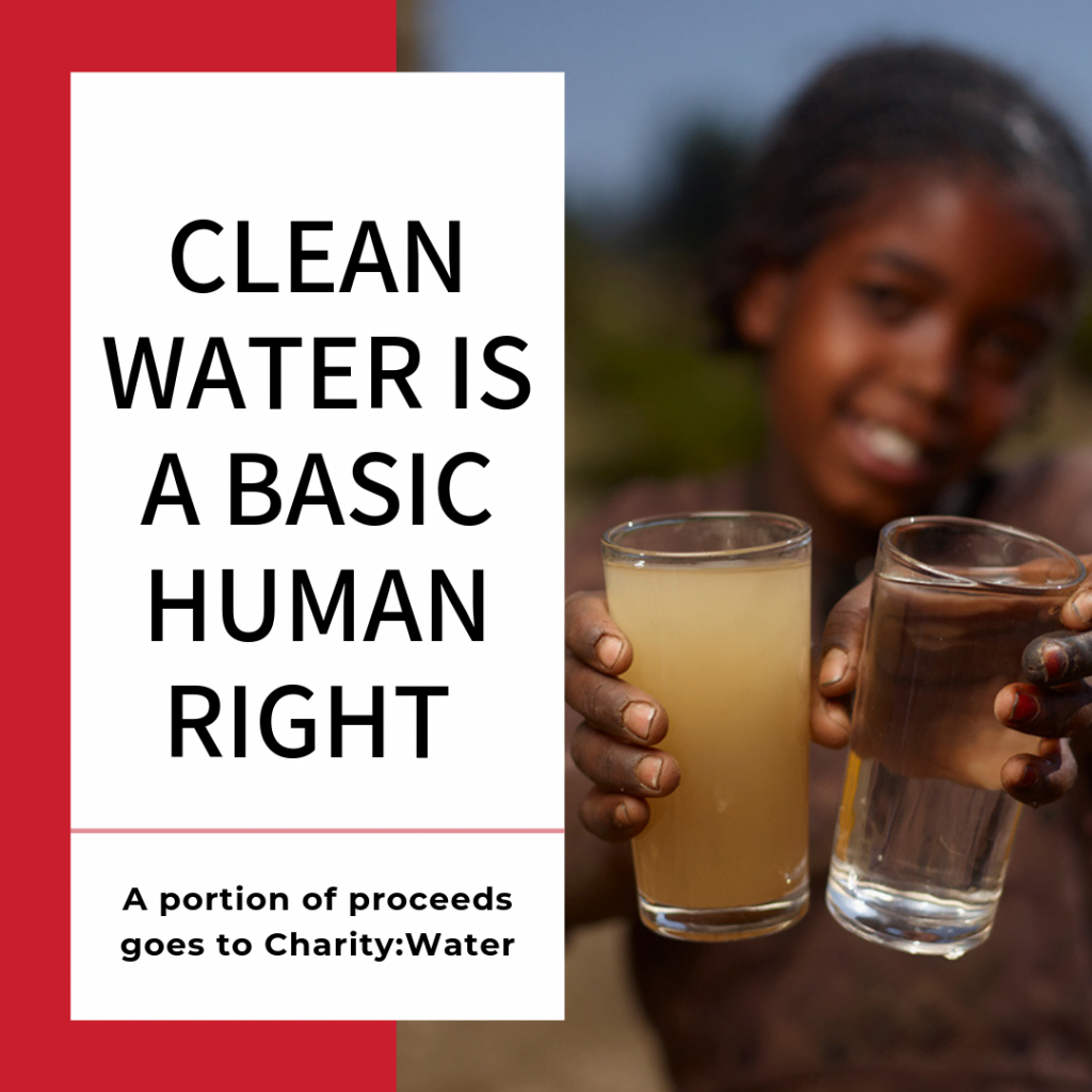 clean water is a basic human right, water glasses