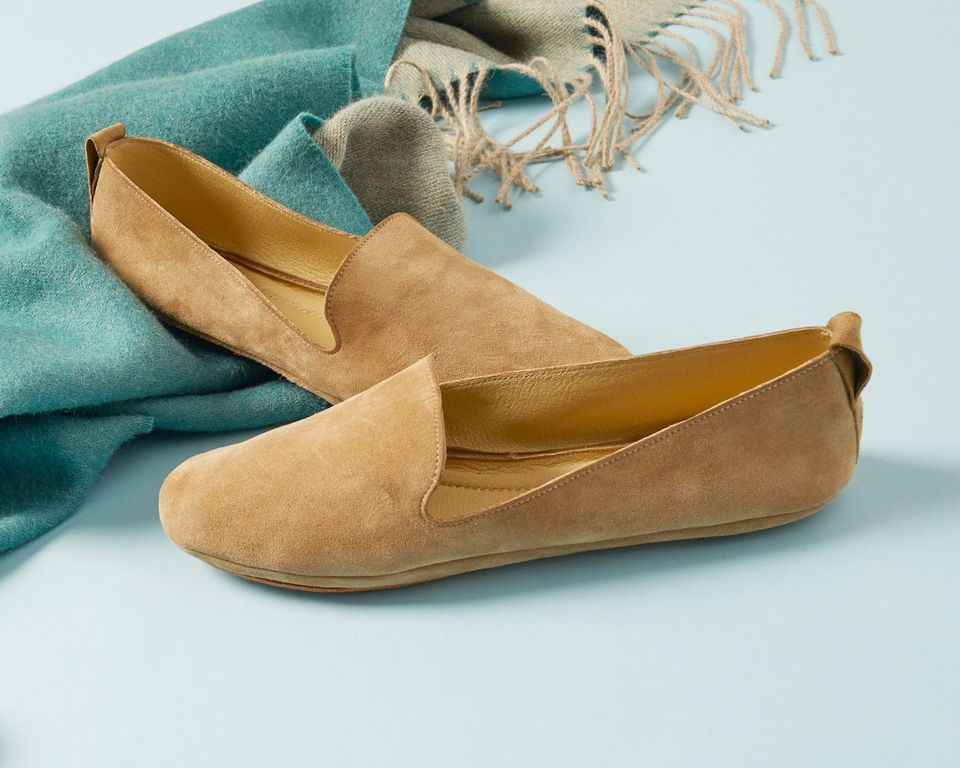 suede flats by Eileen Fisher