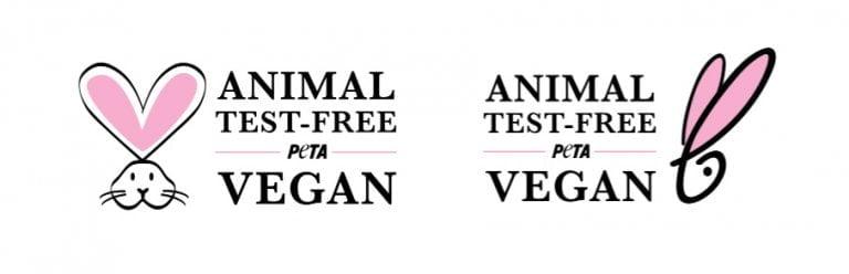 peta animal test free & vegan logo