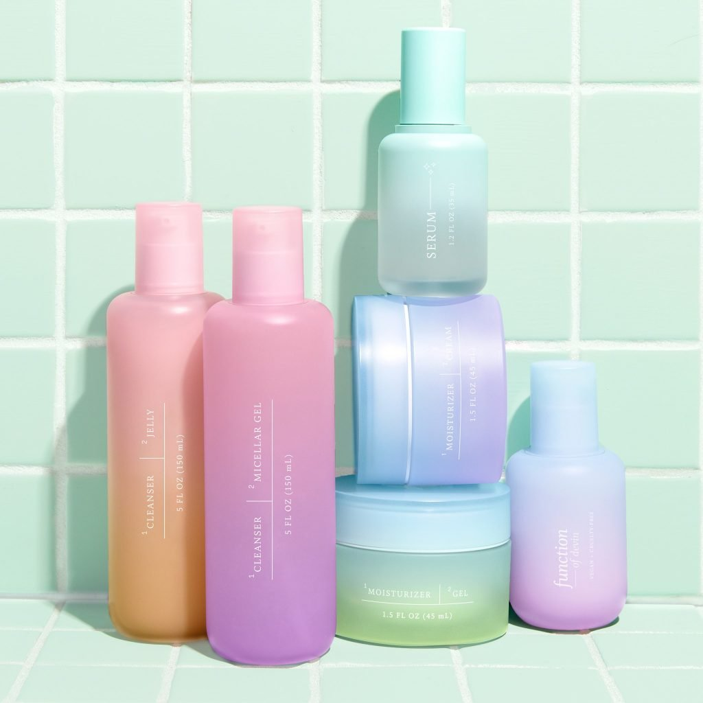 Function of beauty cleanser and serum bottles